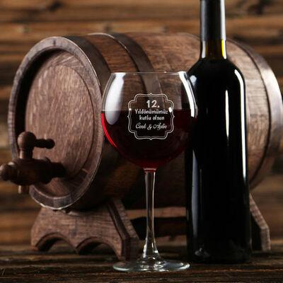 - Yıldönümüne Özel Mesajlı Şarap Kadehi